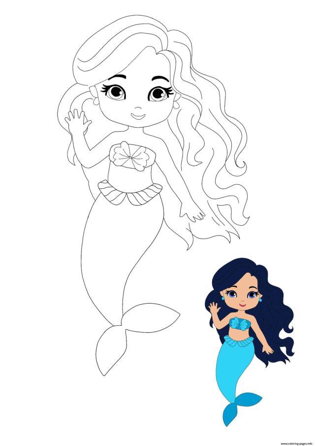 Mermaid Princess Coloring Pages Printable