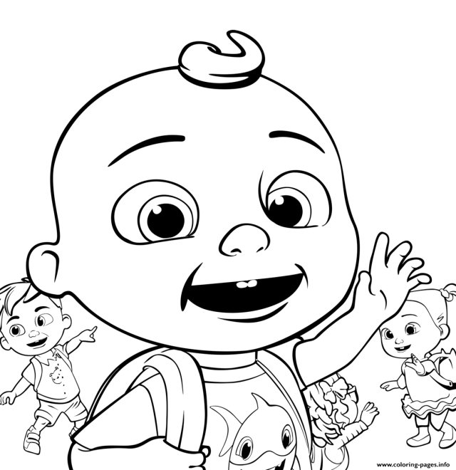 Cocomelon Going To School Coloring Pages Printable