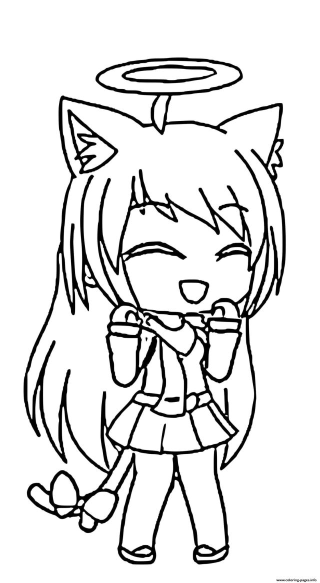 Cute Angel Gacha Life Coloring Pages Printable
