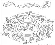 free 5 coloring pages simple free mandalas 44 coloring pages