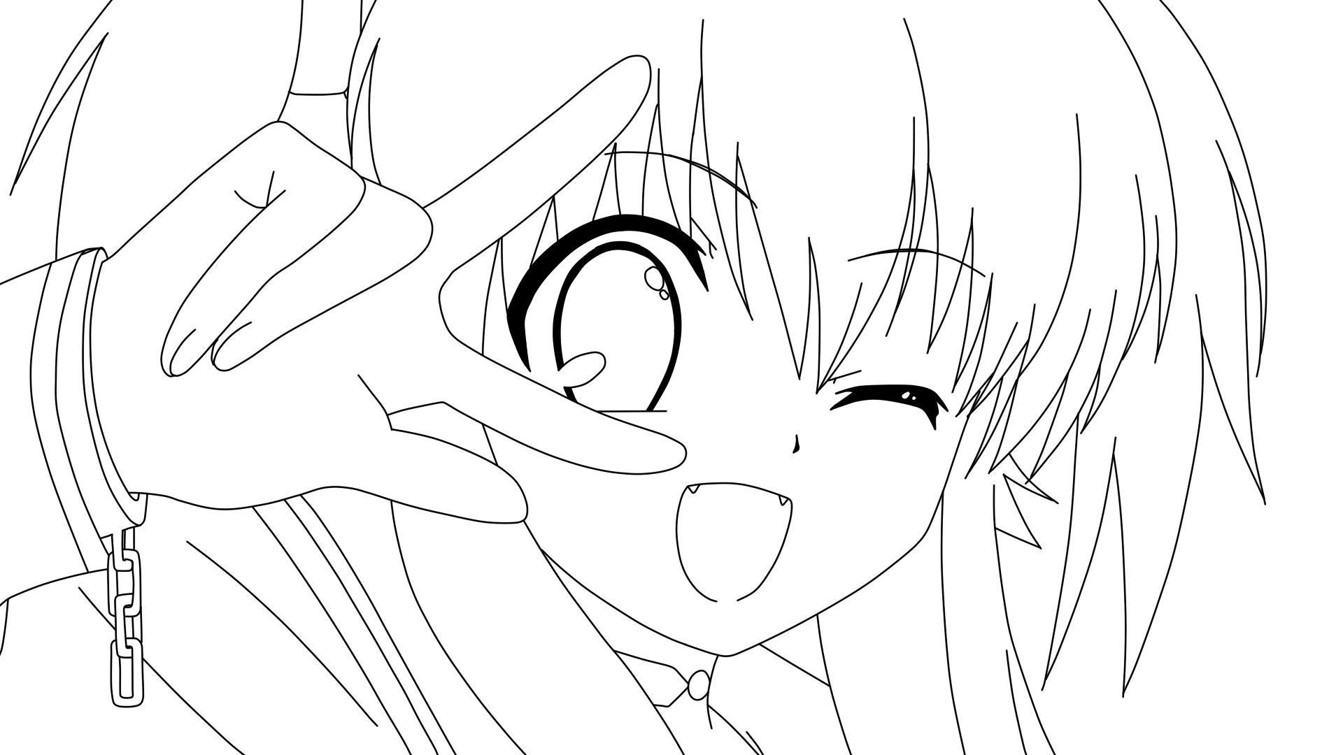 Coloring Pages Anime Girl Coloring Page Fun
