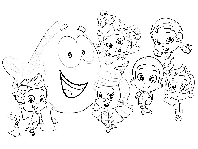 Bubble Guppies Coloring Pages Coloringploofr