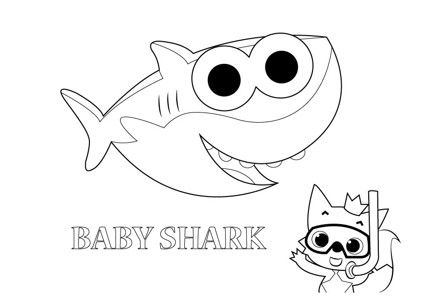 Baby Shark Coloring Pages Coloring Rocks