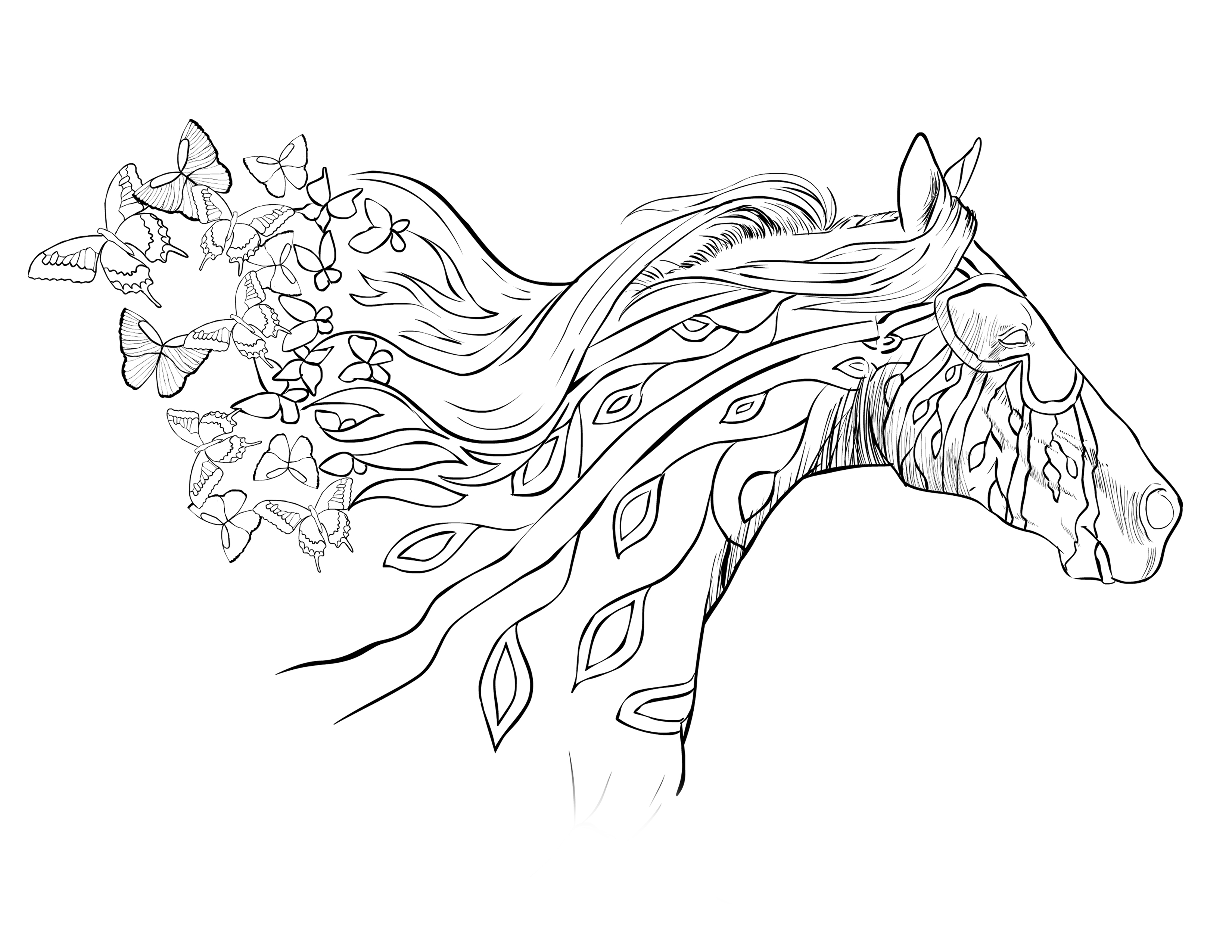 Horse Coloring Pages Coloringcks