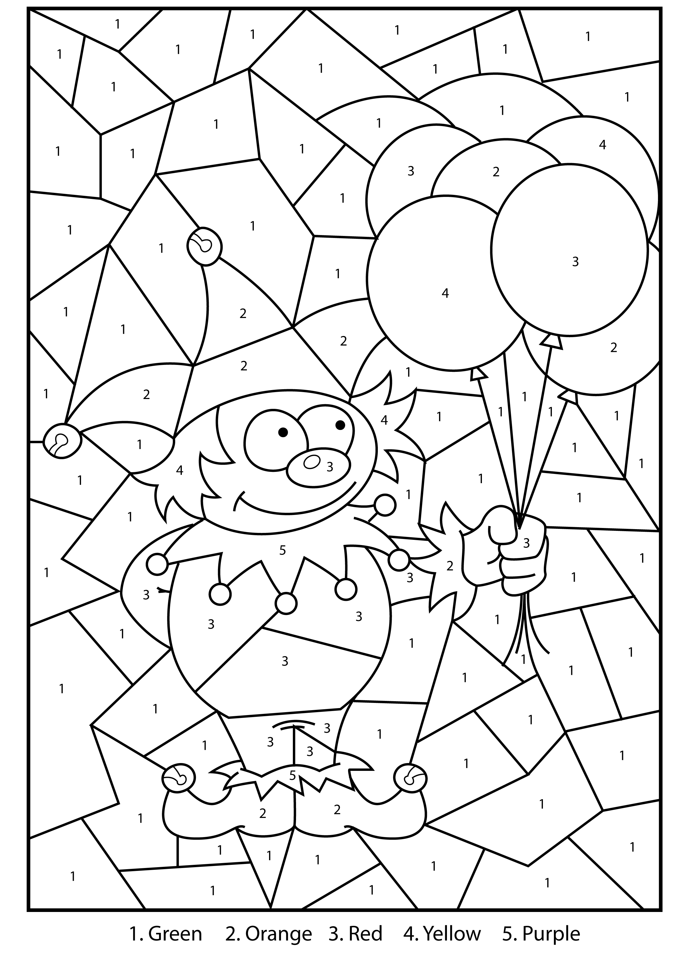 Color By Numbers For Kids Coloringcks