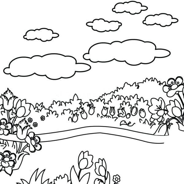 garden coloring page # 70
