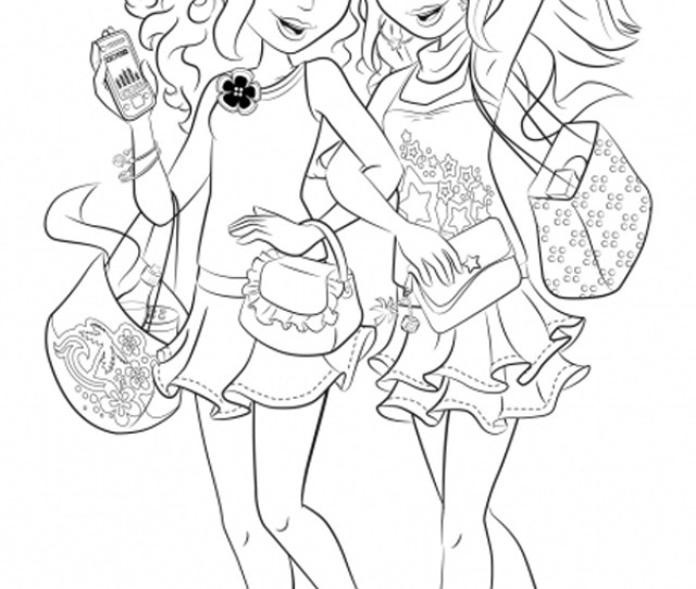 Lego Friends Coloring Pages Coloring Rocks