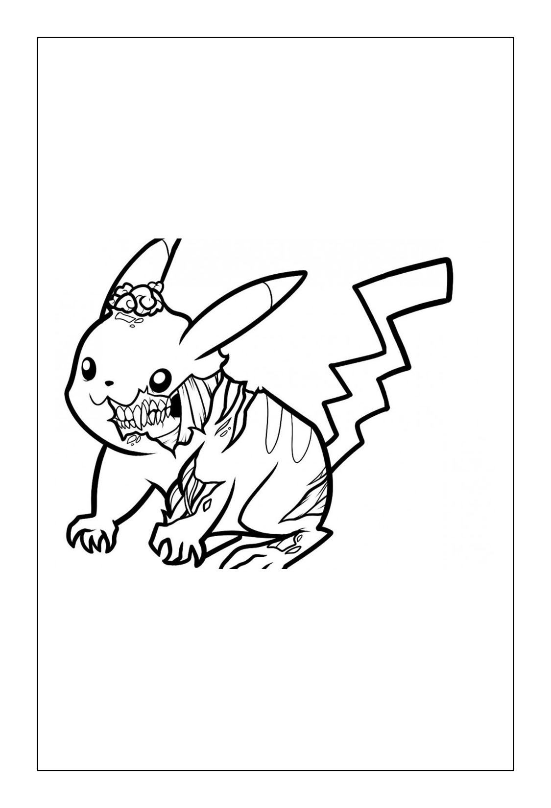 Pikachu Coloring Pages Coloring Cks