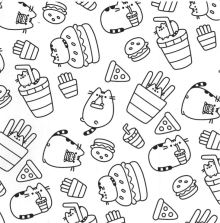 Pusheen Cat Coloring Pictures