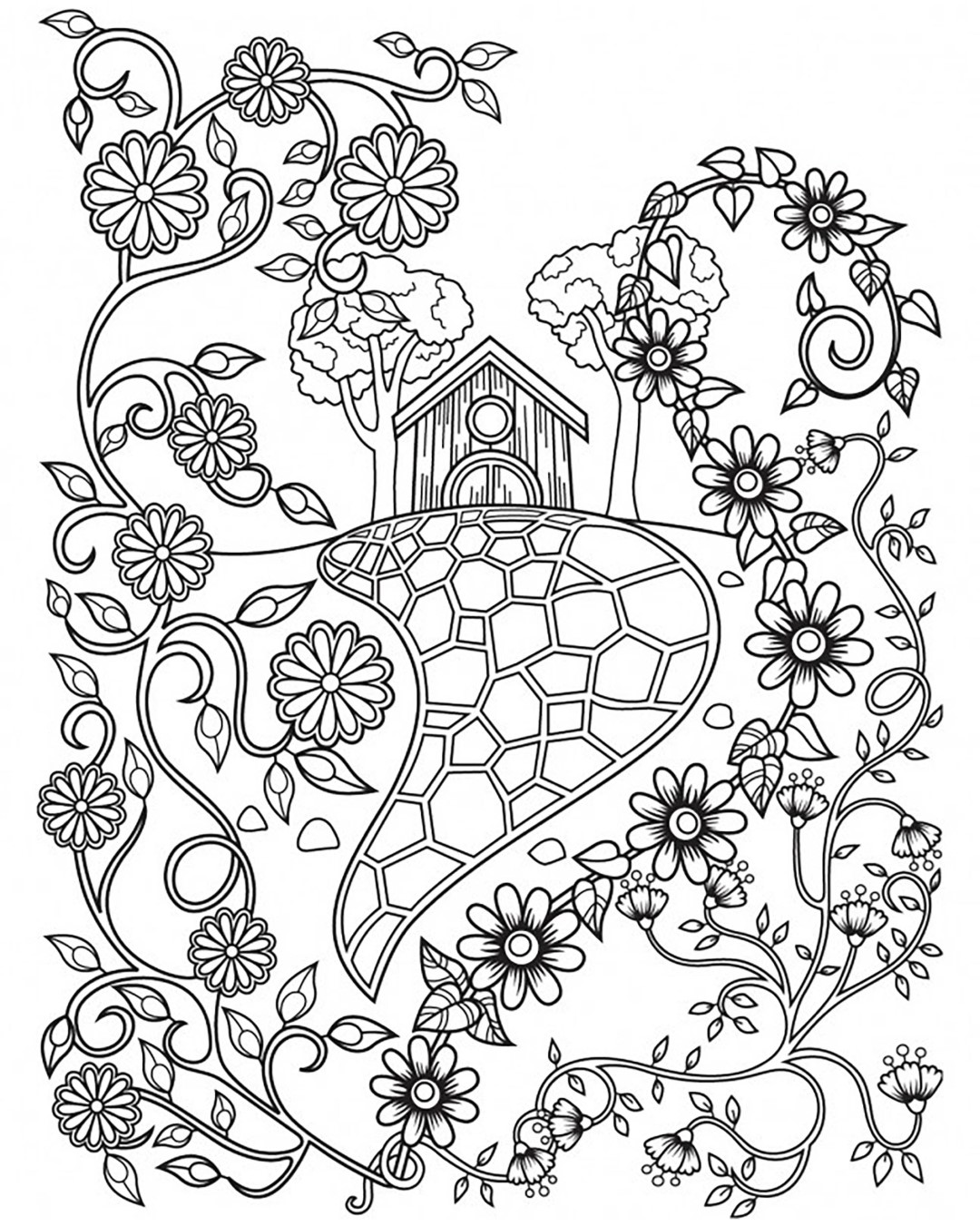 House Coloring Pages Coloring Rocks