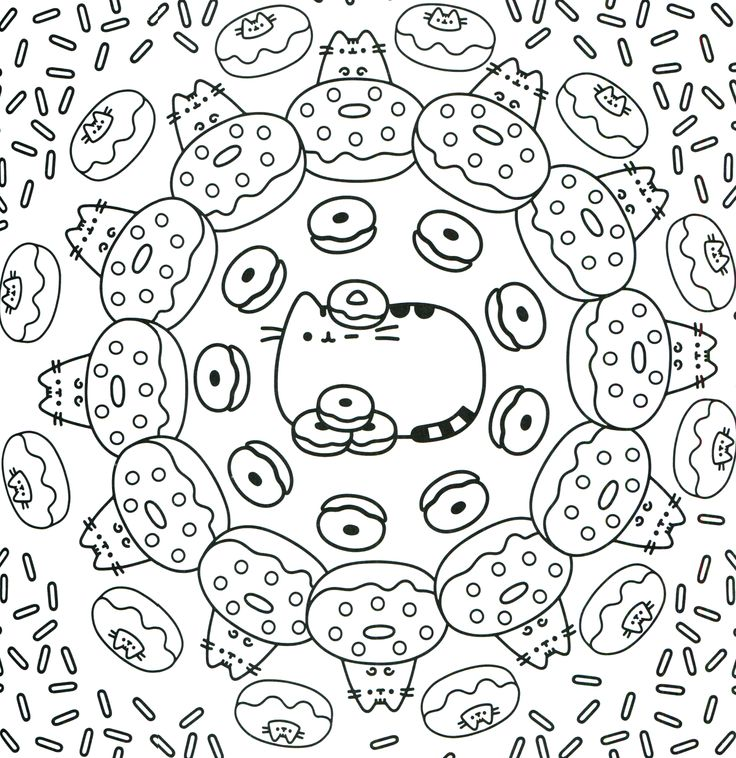 Pusheen Coloring Pages Coloring Rocks
