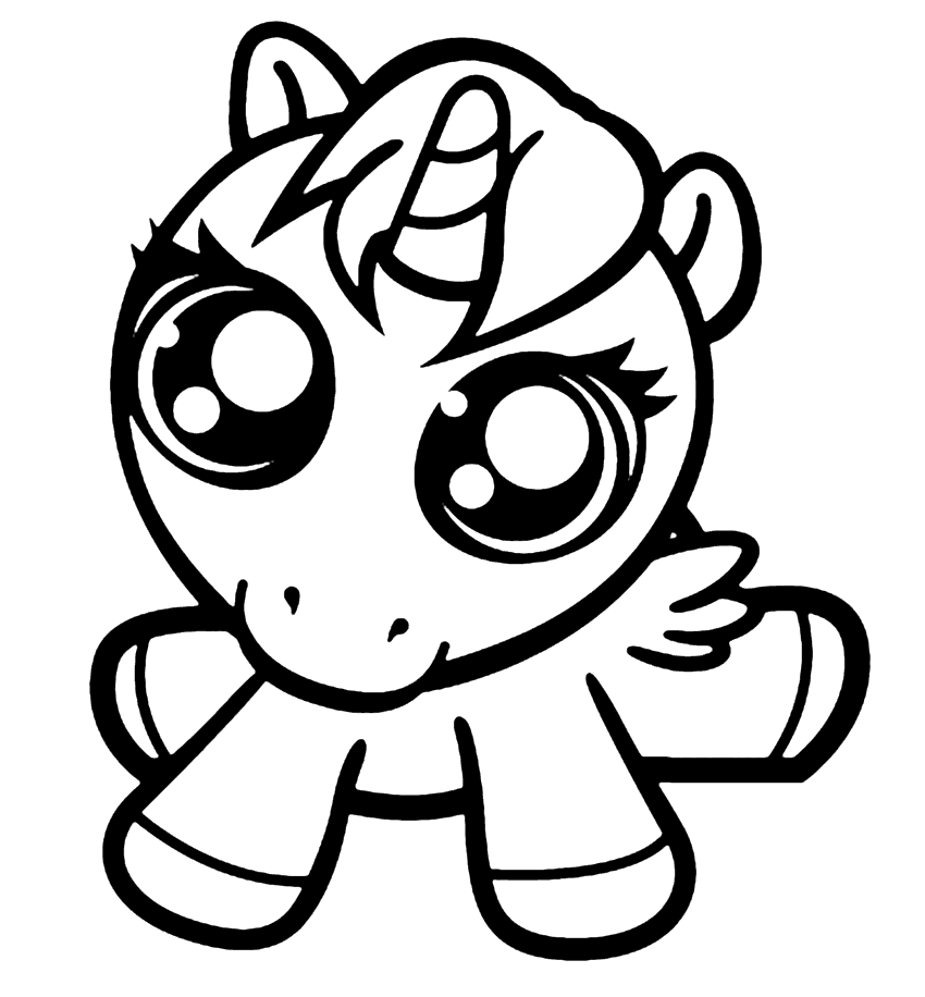 Baby Unicorn Coloring Pages Coloring Rocks