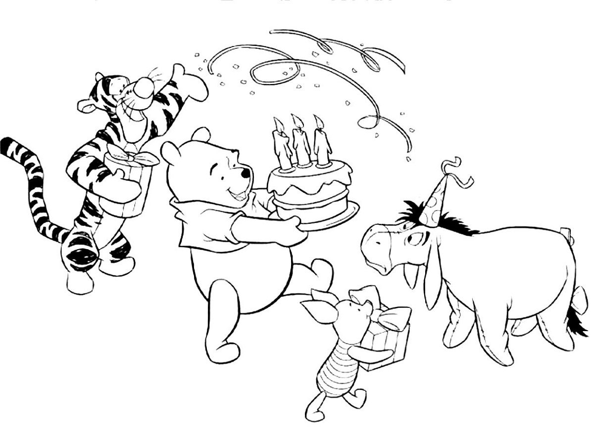 Happy Birthday Coloring Pages Coloring Rocks