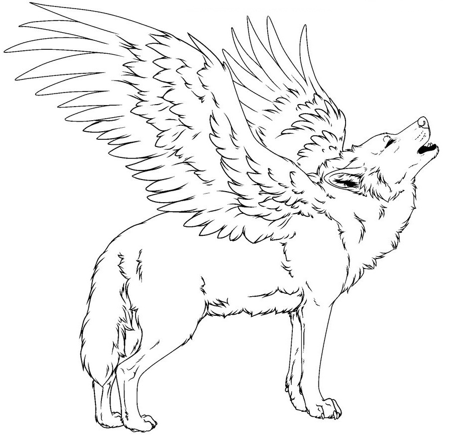 Wolf Coloring Pages Coloring Rocks