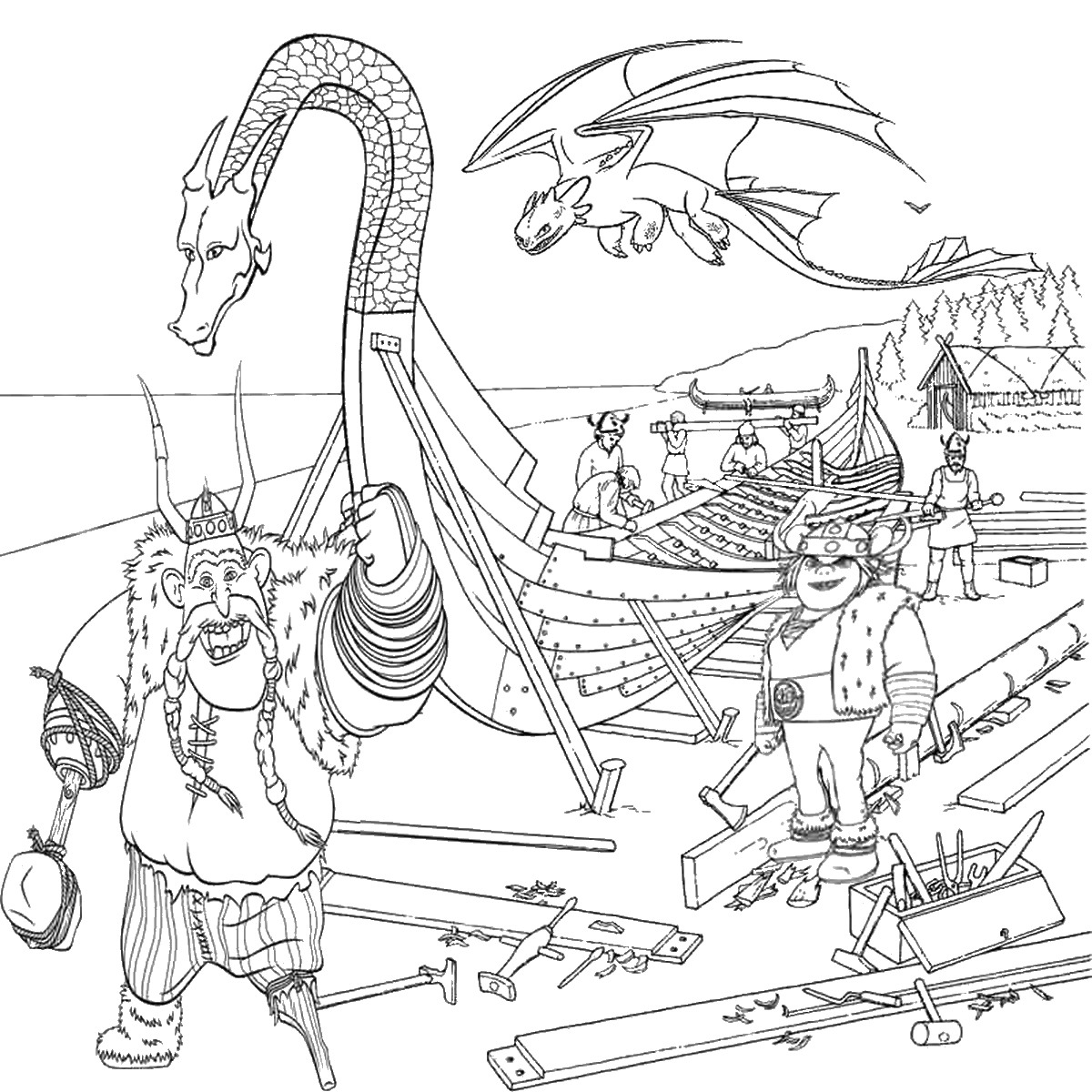 How To Train Your Dragon Coloring Pictures Print Coloring Page