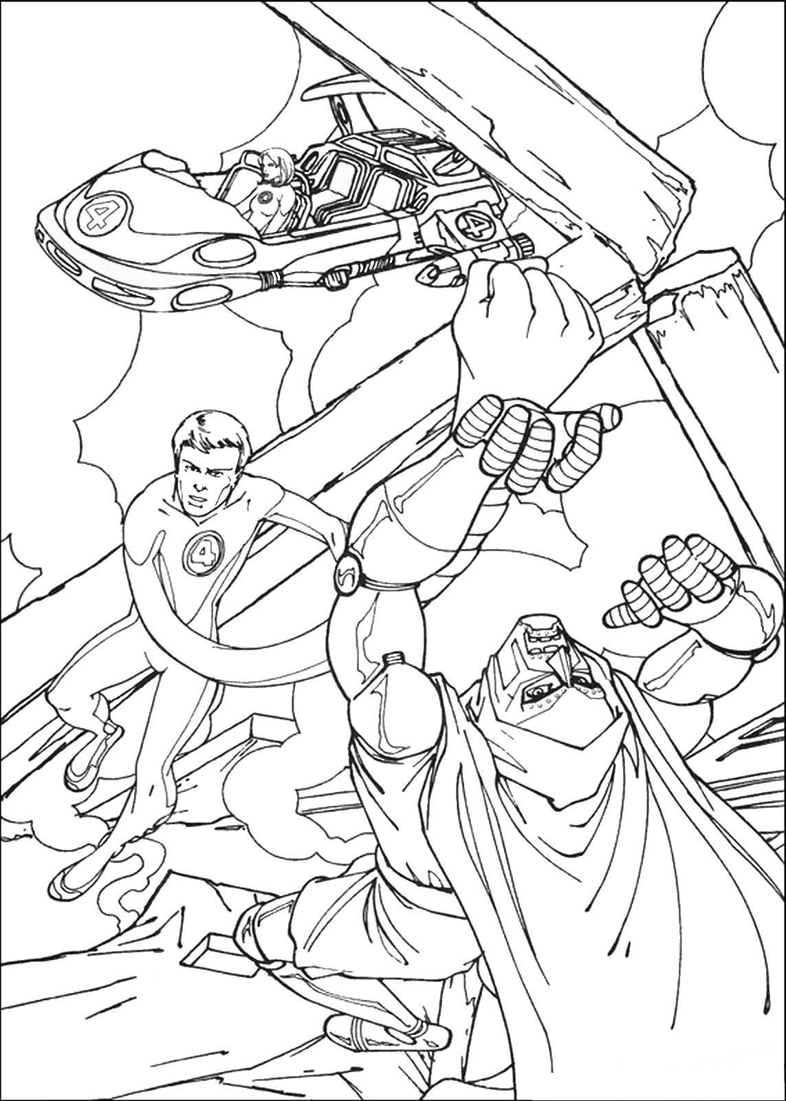 The Fantastic Four Coloring Pages