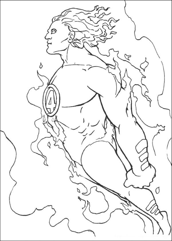 fantastic four coloring pages # 33