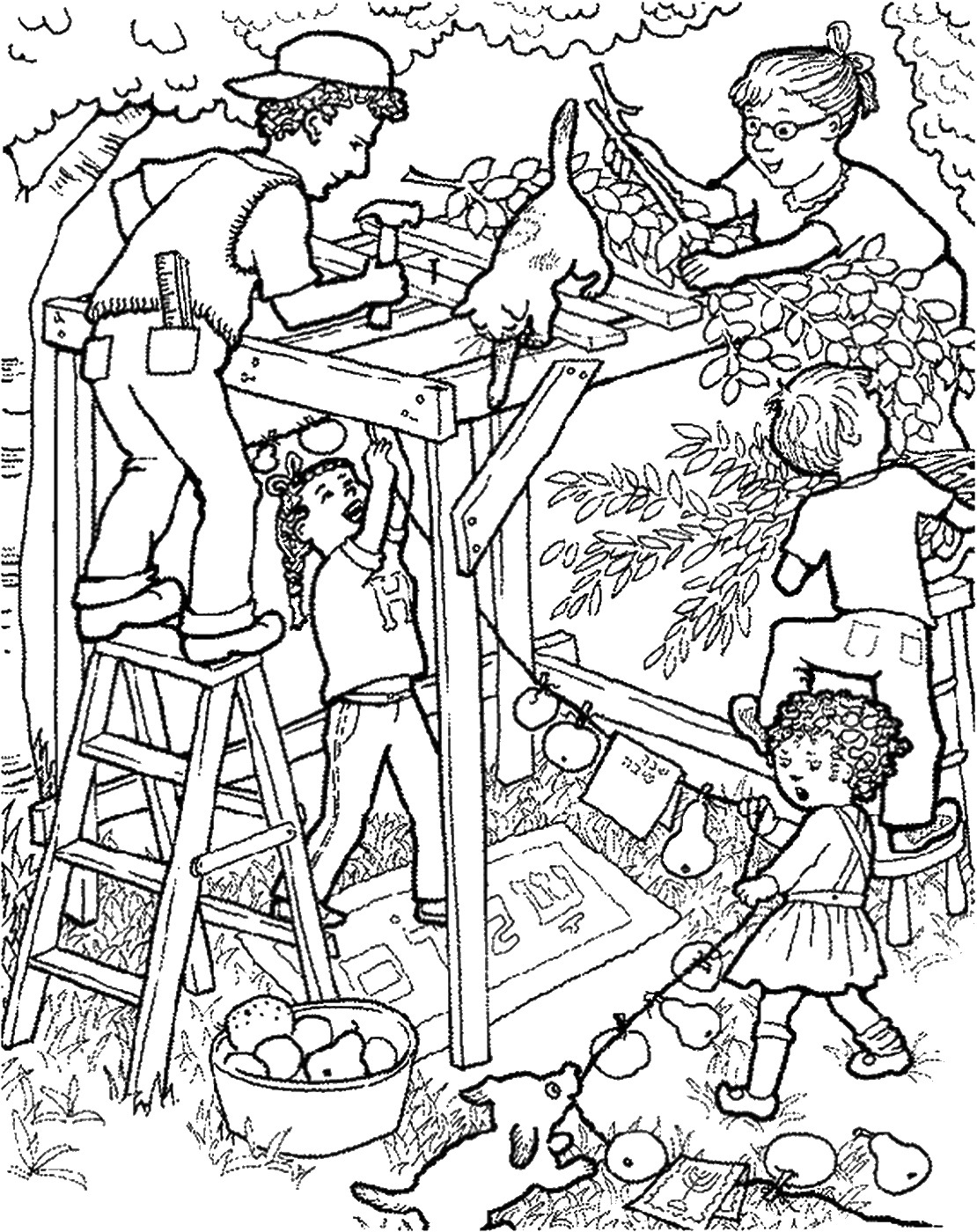 Sukkot Coloring Pages