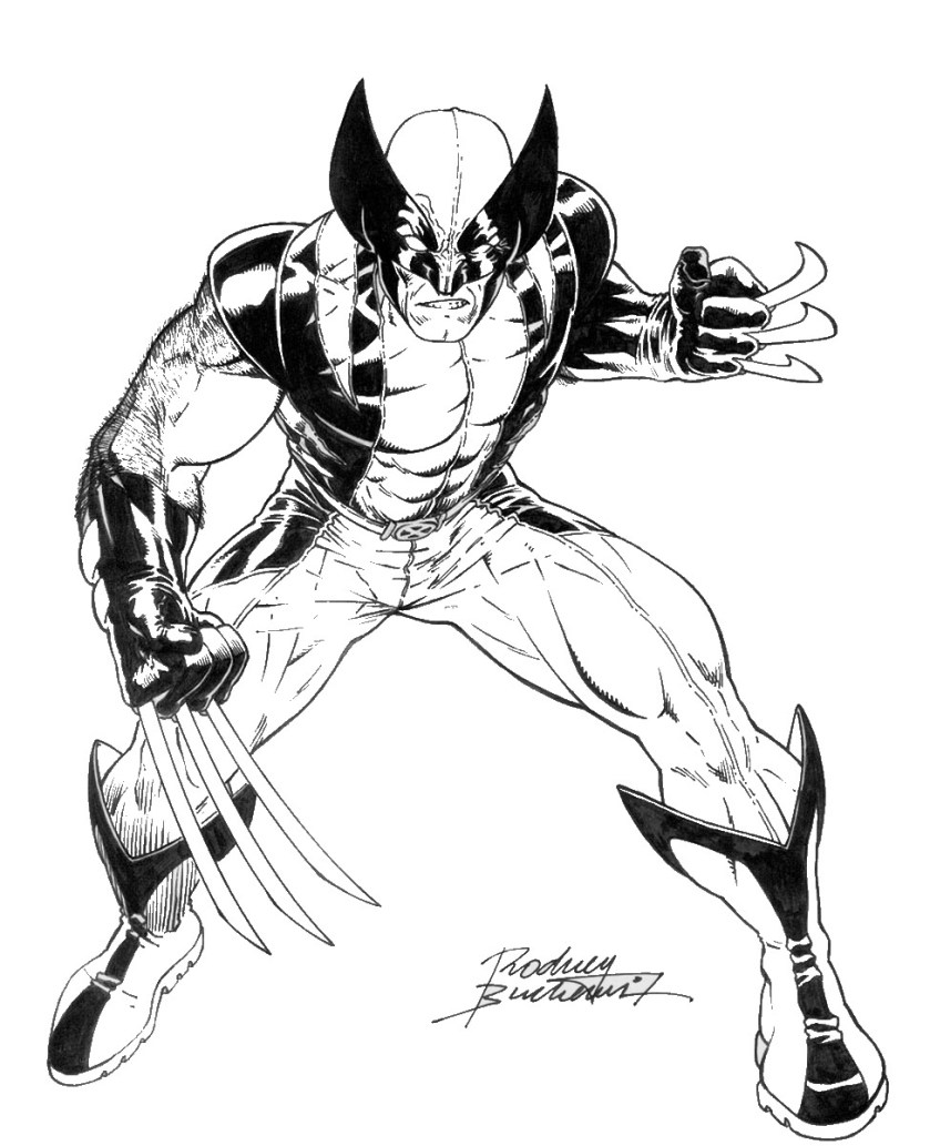 wolverine and the xmen coloring pages