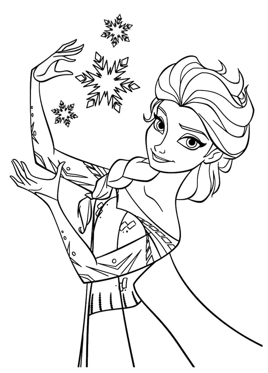 Snow Queen Coloring 3