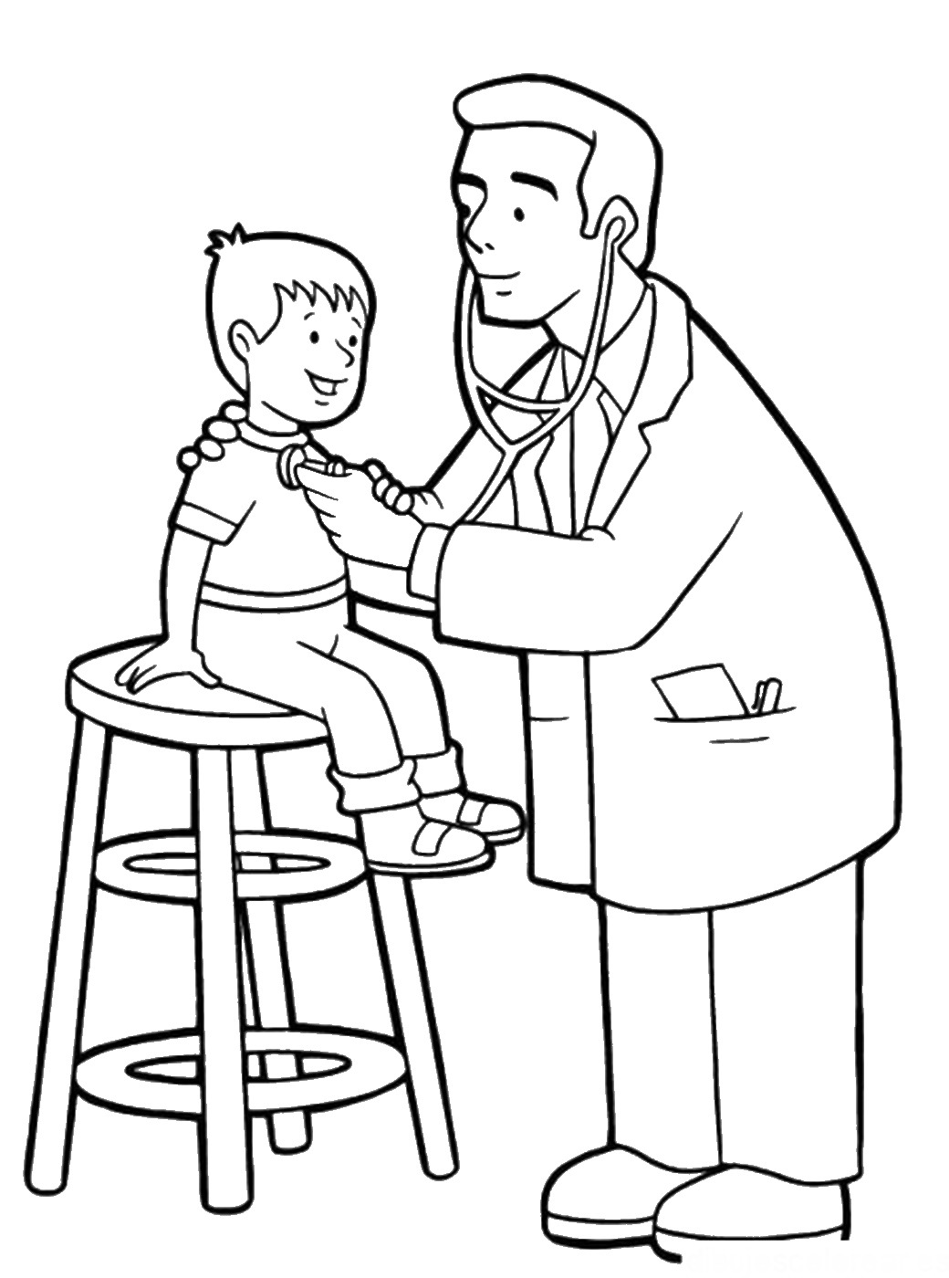 Doctors Tools Coloring Page Download Free Software