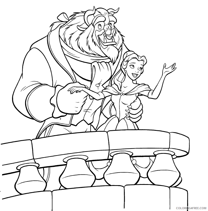 Belle Coloring Pages And Chip Coloring4free Coloring4free Com