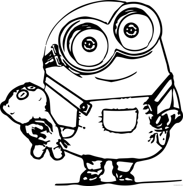 bob the minions coloring pages Coloring20free - Coloring20Free.com