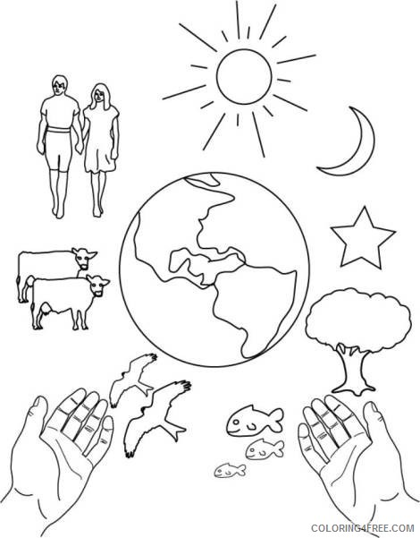 Creation Coloring Pages Free To Print Coloring4free Coloring4free Com