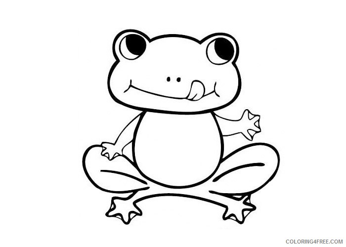 Cute Frog Coloring Pages To Print Coloring4free Coloring4free Com