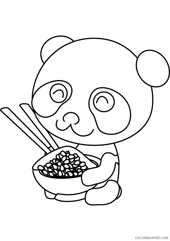 Free Panda Coloring Pages For Kids Coloring4free Coloring4free Com