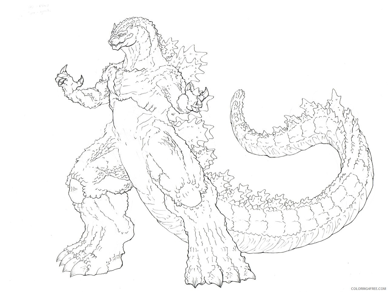 Space Godzilla Coloring Pages Coloring4free Coloring4free Com