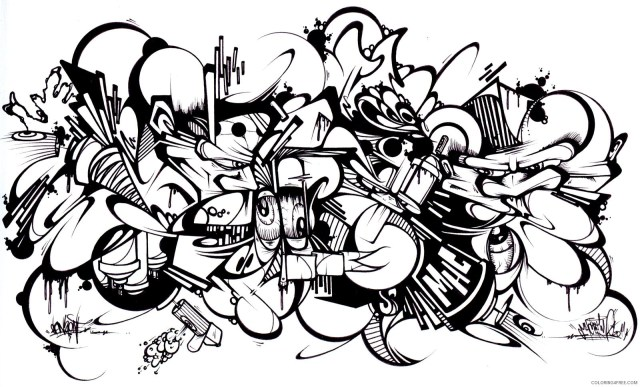 graffiti coloring pages for adults by sans Coloring24free