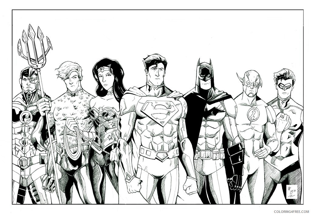 Justice League Coloring Pages All Heroes Coloring4free Coloring4free Com