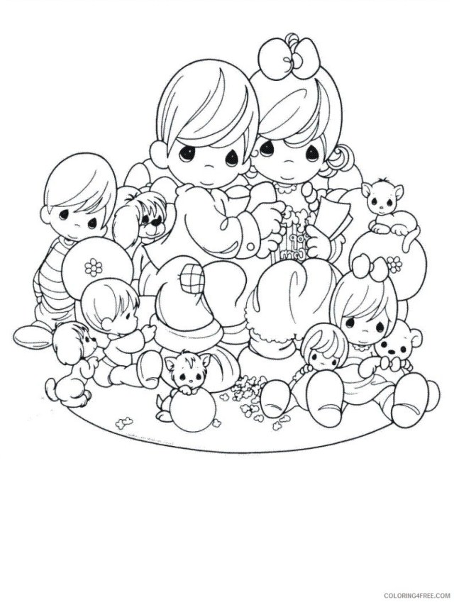 precious moments coloring pages family Coloring12free