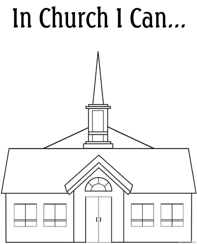 printable church coloring pages free Coloring8free - Coloring8Free.com