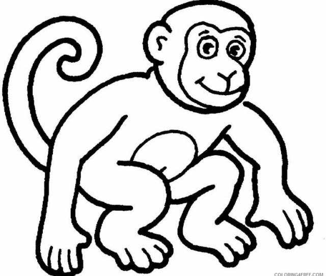 Printable Monkey Coloring Pages Coloringfree Coloringfree Com