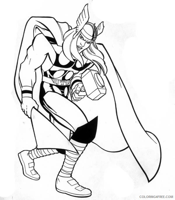 Printable Thor Coloring Pages Coloring4free Coloring4free Com