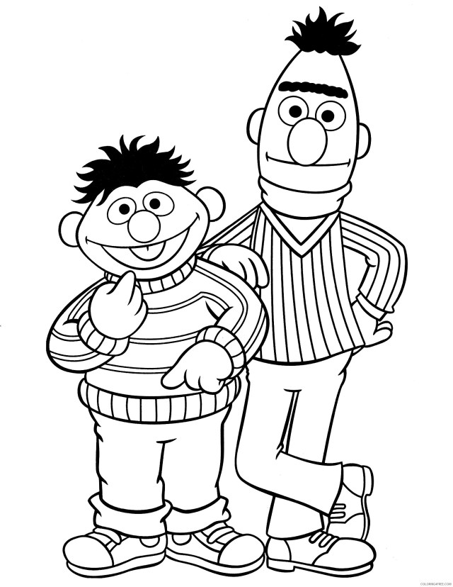 sesame street coloring pages ernie and bert Coloring26free