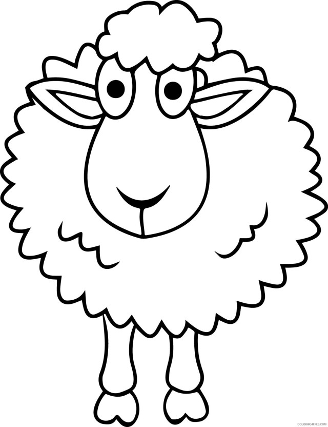sheep coloring pages free for kids Coloring20free - Coloring20Free.com