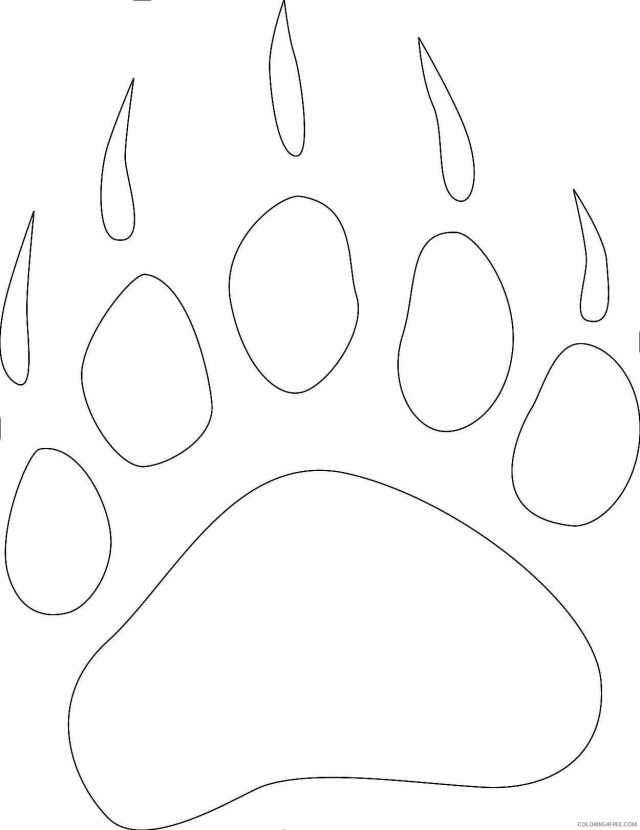 bear paw print collection b id com server 25 QNG25AA coloring