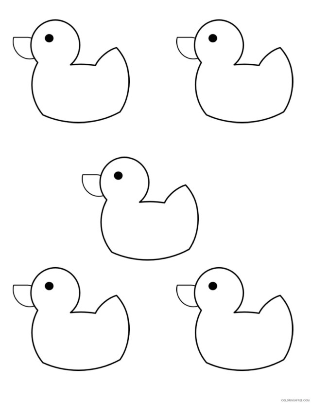 Black and White Rubber Duck Coloring Pages 28 little rubber ducks