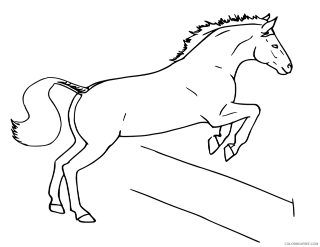 Jumping Horse Coloring Pages horse jumping horse jumping Printable