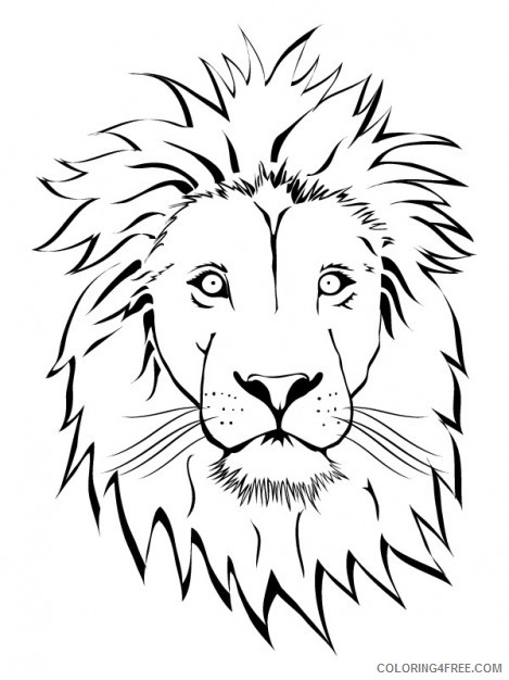 Lion Outline Coloring Pages Lion Vectors Photos And Psd Printable Coloring4free Coloring4free Com