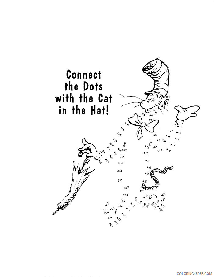 The Cat In The Hat Coloring Pages The Cat In The Hat Printable Coloring4free Coloring4free Com