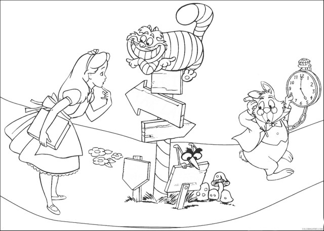 Alice in Wonderland Coloring Pages Cartoons alice_15 Printable