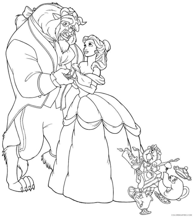Beauty and the Beast Coloring Pages Cartoons Beauty and the Beast