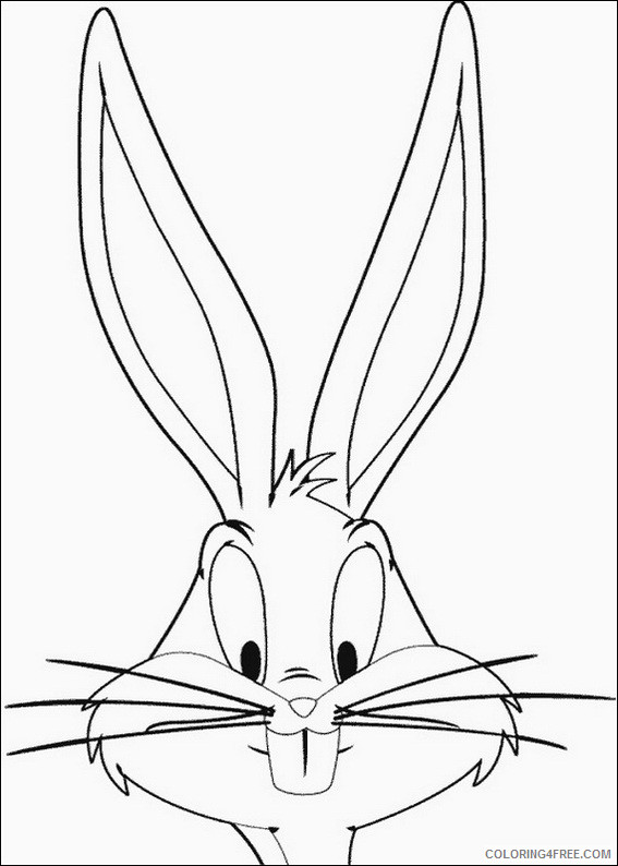 Bugs Bunny Coloring Pages Cartoons Bugs Bunny Printable 2020 1416 Coloring4free Coloring4free Com