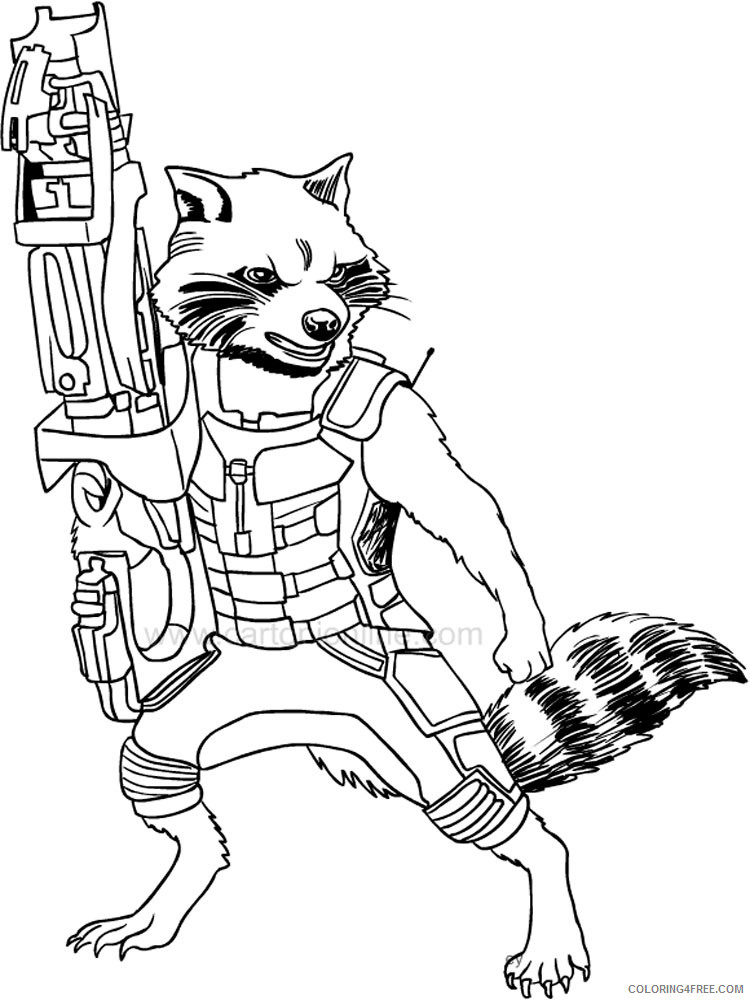 Guardians Of The Galaxy Coloring Pages Superheroes Printable 2020 Coloring4free Coloring4free Com