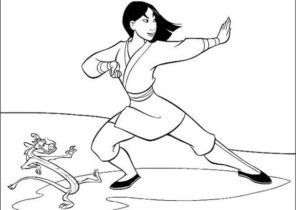 Mulan Coloring Pages Coloring4free Com