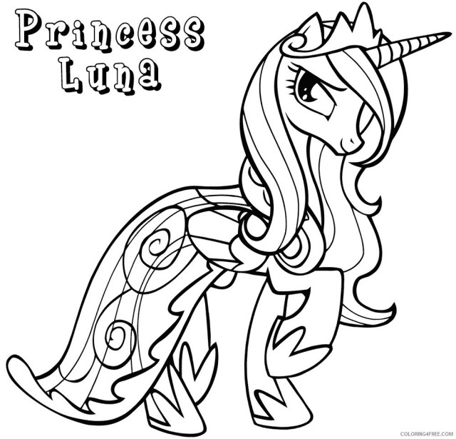 My Little Pony Coloring Pages Cartoons Princess Luna My Little